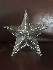 Waterford Crystal Star Paperweight From Ireland With Box