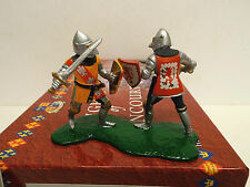 Britain 40239 Knights of Agincourt  Knights Duelling on Foot Gloss 2 fig MIB