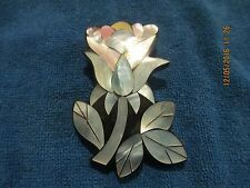 Made in Philippines Mother of Pearl Abalone Flower Pin Brooch