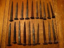 21 Vintage Forged Iron Rose Head Nails Large Period Nails Hardware Early Nail