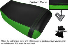 GREEN & BLACK CUSTOM FITS KAWASAKI NINJA ZXR 400 91-03 REAR LEATHER SEAT COVER
