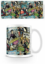 Official Doctor Dr Who Comic Montage Mug TV Film Gift Missy Cybermen