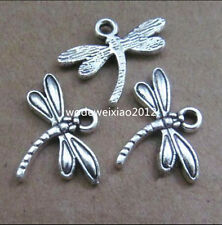20x Tibetan Silver Charms Dragonfly Animal Pendant Crafts Jewellery Making PL259