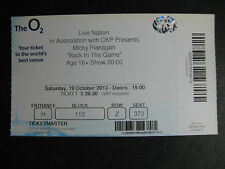 MICKY FLANAGAN  O2 LONDON  19/10/2013 TICKET