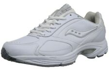 SAUCONY GRID OMNI WHITE/SILVER LEATHER WALKING SHOE MENS SIZE 7 D (M) US