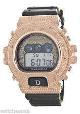 King Master Unisex Gold Dial Green Rubber Band Digital Watch
