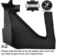 GREEN STITCH 2X REAR UPPER PANEL LEATHER COVER FITS RENAULT ALPINE GTA V6