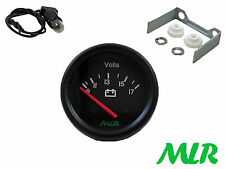 52MM BATTERY VOLT GAUGE VOLTS BLACK FACE TRACK RACE KIT CAR CLASSIC CAR MLR.AUL