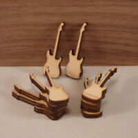 Electric guitar shapes, 4mm birch ply, wood craft blank, plaque making, (sm) x10