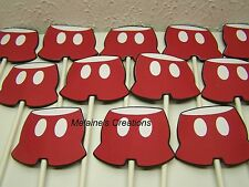 Mickey Mouse Disney 12 cupcake toppers shorts pants