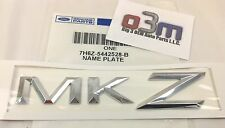 "Lincoln MKZ Rear Chrome ""MKZ"" NAMEPLATE Emblem OEM new 7H6Z-5442528-B"