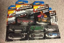 HARD TO FIND... Hot Wheels Fast And Furious Complete Set Of 8