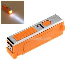 Portable LED Rechargable USB Car Cigarette Lighter Flashlight Torch Camp Outdoor