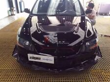 CARBON FIBER ARS STYLE CANARD FOR MITSUBISHI EVO EVOLUTION 9 STOCK BUMPER USE
