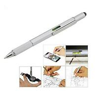 Touch Screen Stylus Metal Spirit Level Ruler Ballpoint Pen Screwdriver MultiTool