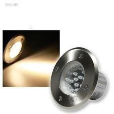 LED Foco instalación Lámpara de pie piso suelo Acero inox IP67 230V