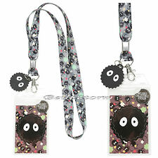 Studio Ghibli Spirited Away Soot Sprite Sprites Lanyard ID Card Park Pin Holder