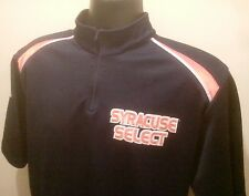 Men SYRACUSE select blue Basketball Warmup Jersey S/M 1/4 zip Agame