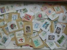 MONACO INTERESTING LOT ABOUT 1000 USED STAMPS ON PAPER 1980 - 2000