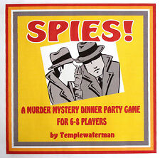 HOST A 1950's MURDER MYSTERY DINNER PARTY GAME ~ for 6-8 players