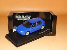 VW GOLF IV 1999 blau  Sondermodell Generation Golf  Minichamps Scale 1/43 O V P