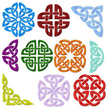 Celtic Ornaments 10 Machine Embroidery Designs set 4x4