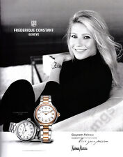 Gwyneth Paltrow 1-pg clipping 2017 ad for Frederique Constant Watches