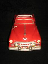 1951 Cadillac Car Planter Vintage RED Cadillac Ceramic Planter From the 70's