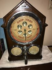Rare Antique Grip Strength Tester Fortune Teller Career Meter Coin Op Machine