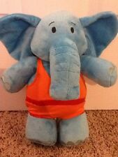"Disney Store Exclusive Jo Jo's Circus Dinky Soft Plush Blue Elephant 10"" Nice!"