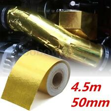 """2""""x15' Roll Self Adhesive Reflective High Temperature Heat Shield Wrap Tape Gold"""