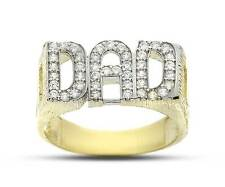 9CT GOLD SOLID HEAVY DAD DADDY FATHER CURB LINK SIDE RING BAND GIFT BOX