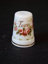 Royal Albert China Flower of the Month Thimble ~ June Roses ~ HTF