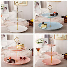 3 Tier Hardware Crown Cake Plate Stand Handle Fitting Wedding Party Gold JTX