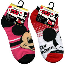 6 PAIR Disney Mickey Mouse Ankle Socks Size 6-8 Shoes Size 10.5-4 NEW
