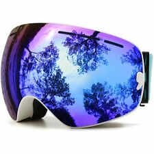 JULI Ski Goggles,Winter Snow Sports Snowboard Goggles With Anti-fog UV Dual #4IE