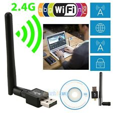 150Mbps 802.11N/G/B USB WiFi Wireless Adapter Dongle Network LAN Card w/Antenna