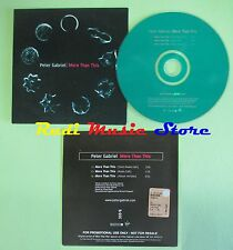 CD singolo PETER GABRIEL more than this PROMO 2002 CARDSLEEVE VIRGIN no mc(S18)