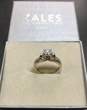 Zales 10K Rose Gold White Gold Two-Tone .50 TCW Women's Band Ring
