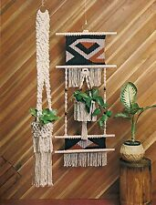 Decorative Wall Plant Hanger Pattern - Craft Book: #MM166 Macrame Happenings