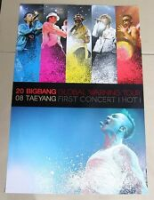 Big Bang Grobal Warning Tour - TAE YANG CONCERT OFFICIAL POSTER *HARD TUBE CASE*