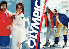 PUBLICITE ADVERTISING 056  1983   les vetements de ski Olympic ( 2p)  La forme
