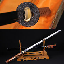 HANDMADE DAMASCUS STEEL JAPANESE SAMURAI NINJA SWORD FULL TANG BLADE VERY SHARP