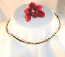 Hinreißendes Pierre Lang Collierkette Collier mit Stein vergoldet Kette / ak 365