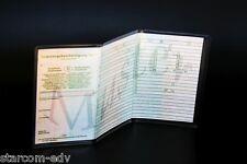 Zulassungsbescheinigung Hülle 3fach transparent KFZ Fahrzeug-Schein Führerschein