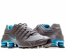 Nike Shox NZ Shoe Mens size 8.5 378341-004 Cool Grey/Mtllc Silver/Bl Lgn