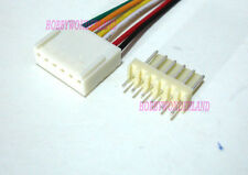 2510 2.54mm 6-Pin female housing Connector Plug with Wire & male terminal 5 SETS