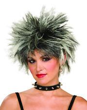 Años 80 Damas-para hombre Pop Star Spike Peluca-Rock Star-Punk Rocker-años 70 del eje de balancín