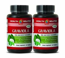 GRAVIOLA Pills - All Natural Blood Sugar Support. Pure Antioxidant (1 Bottle)