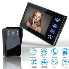 "7"" Wireless Video Door Bell Digital Phone Doorbell Intercom Home Security Camera"